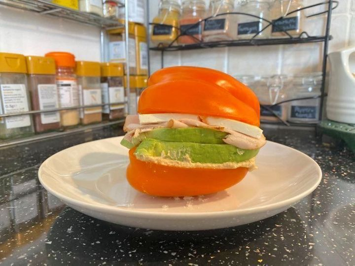 허프포스트 영국 에디터가 만든 피망 샌드위치