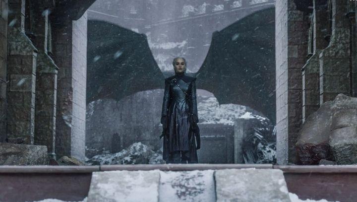 Daenerys Targaryen, en un momento de la última temporada.