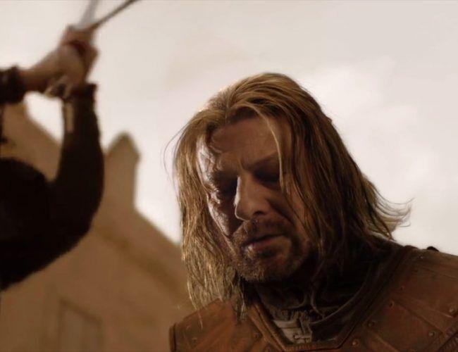 La muerte de Ned Stark, el primer gran shock de los espectadores.