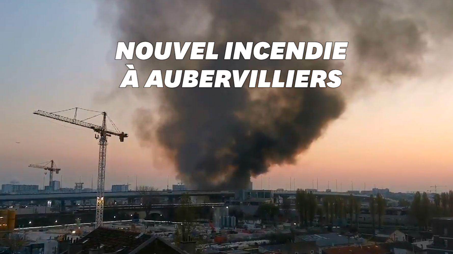 Incendie à Aubervilliers: des colonnes de fumée noire visibles depuis l'A86