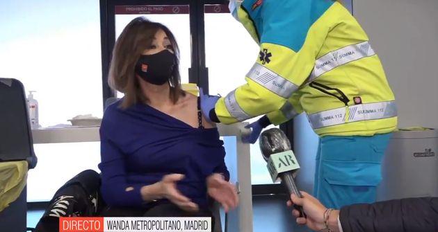 El momento en el que han vacunado a Ana