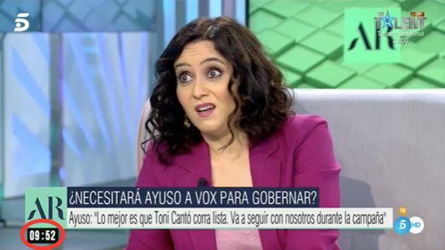 Isabel Díaz Ayuso, en 'El Programa de AR'
