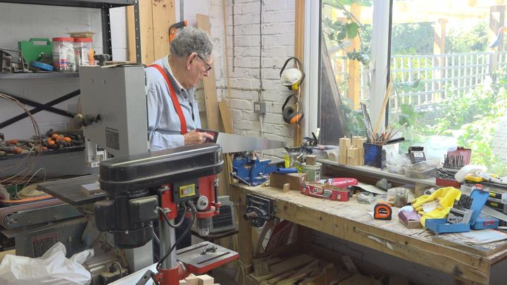 Tom Karen in his workshop