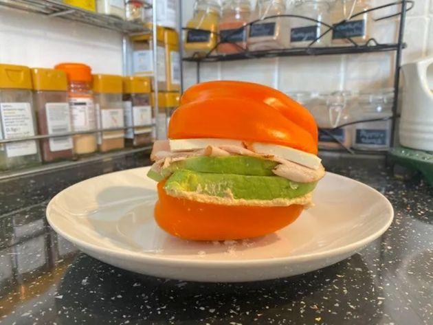 Rachel's bell pepper sandwich
