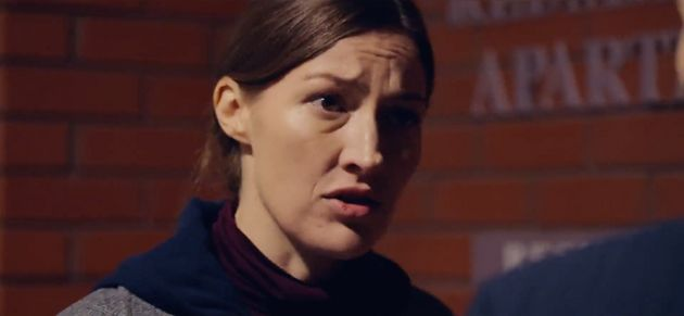 Davidson addresses Fleming in a scene from the trailer that is yet to air on
