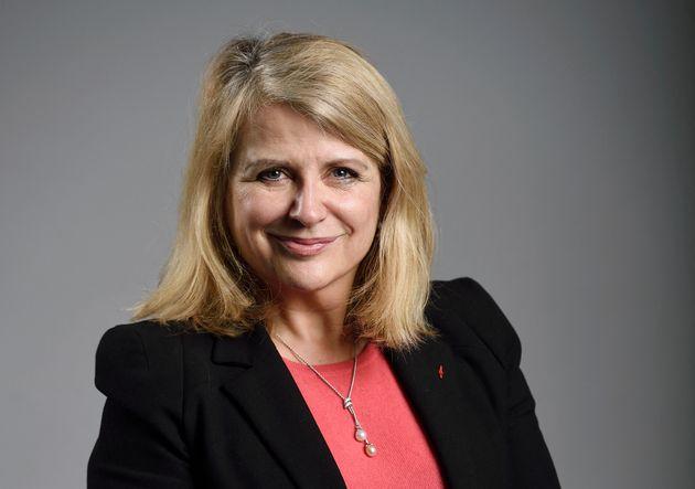 La sénatrice LR Joëlle Garriaud-Maylam le 11 février 2015 au siège du parti Les Républicains, à
