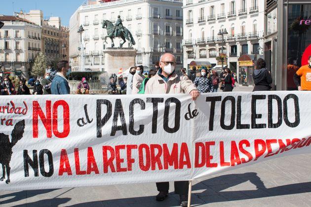 Una manifestación contra la reforma de las