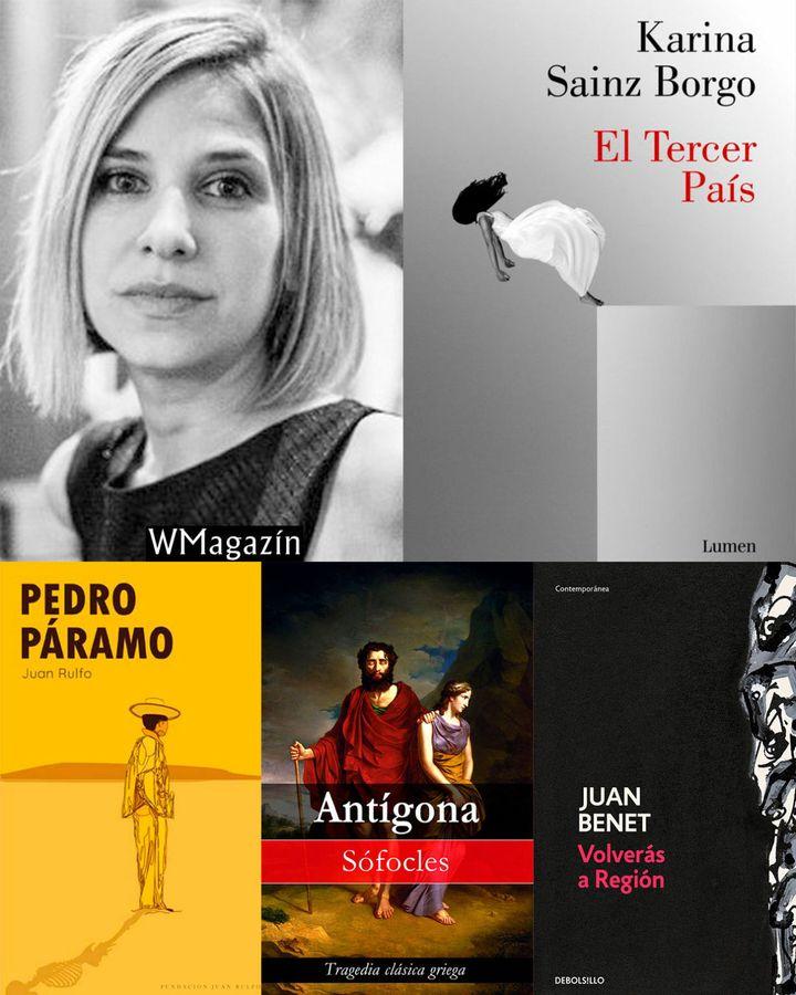 Los libros que inspiraron 'El tercer país', de Karina Sainz Borgo.