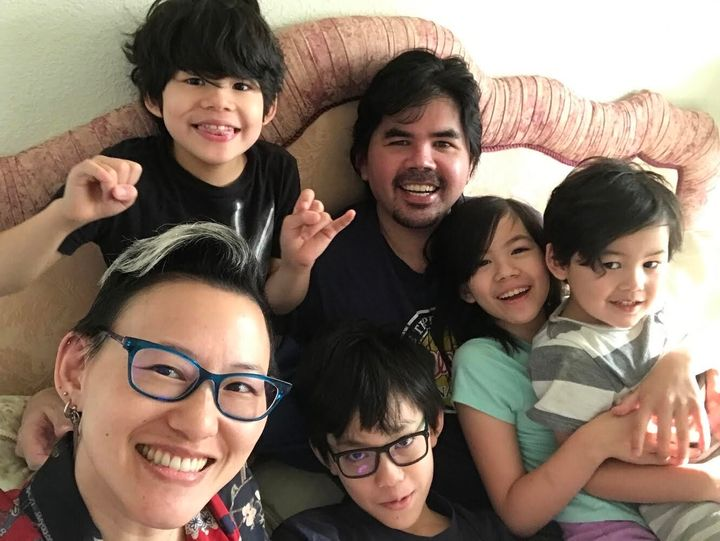Virginia Duan and her family.