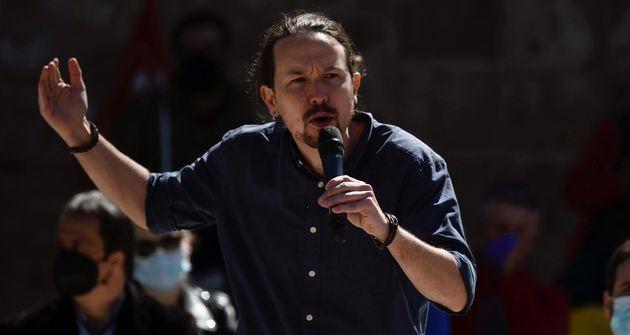 Pablo Iglesias, durante un acto de Unidas Podemos en