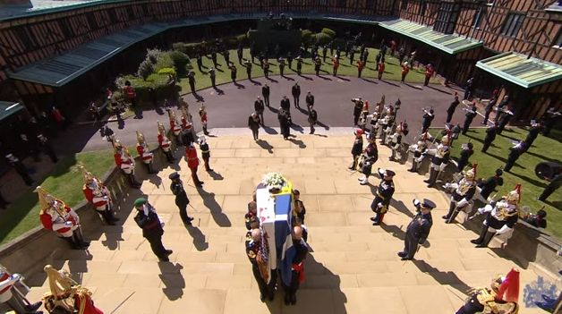 Les images du cercueil du prince