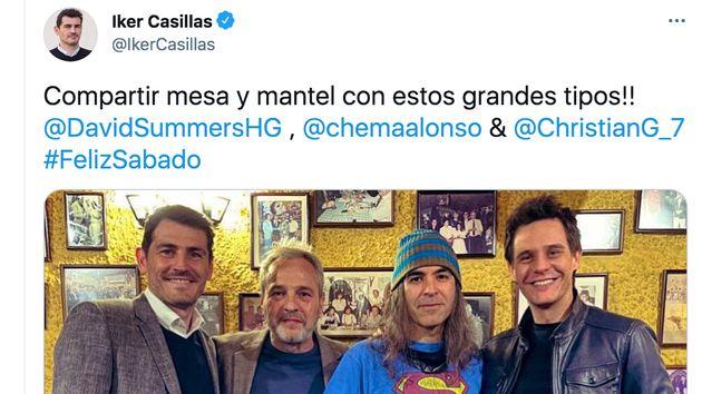 Foto de Iker Casillas con David Summers, Chema Alonso y Christian