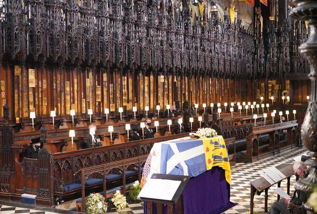 Les images des obsèques du prince Philip, inhumé au caveau royal de