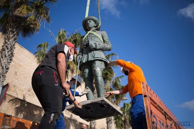 Justice decides that the last statue of Franco does not return to the  streets of Melilla
