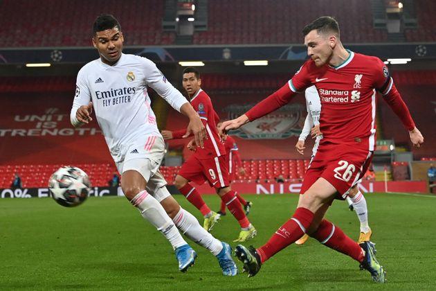 Lors de Liverpool-Real Madrid en Ligue des champions, le 14 avril