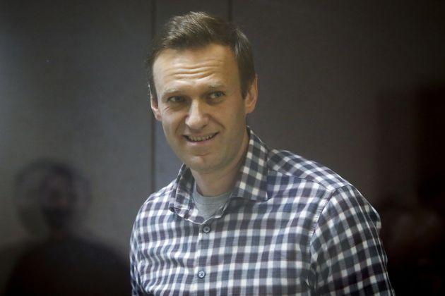 Alexei Navalny lors d'une audience au tribunal le 20 février 2021 à