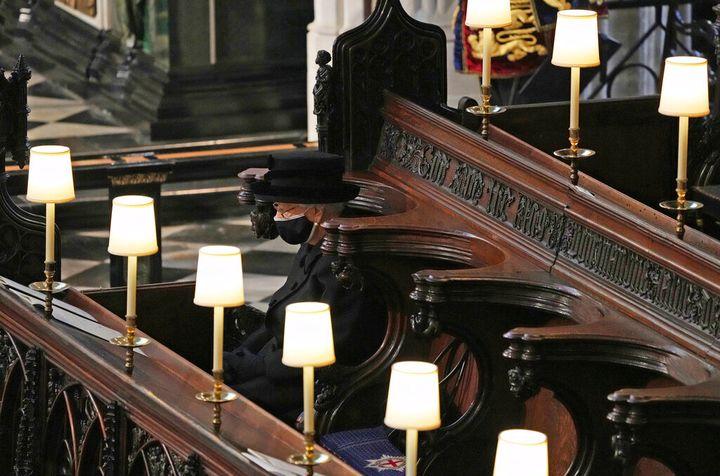 Isabel II, en la Capilla de San Jorge.