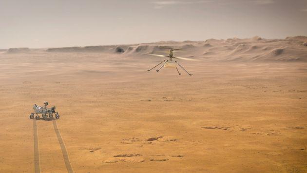 Το ελικόπτερο της NASA πραγματοποίησε την πρώτη του ιστορική πτήση στον