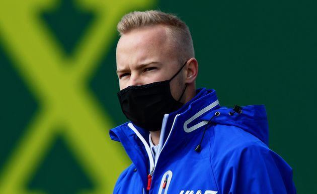 Nikita Mazepin, ici au mois d'avril à Imola en Italie, est arrivé dernier duGrand...