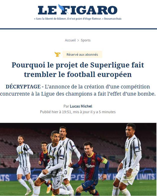 Le Figaro online, 19 aprile 2021.