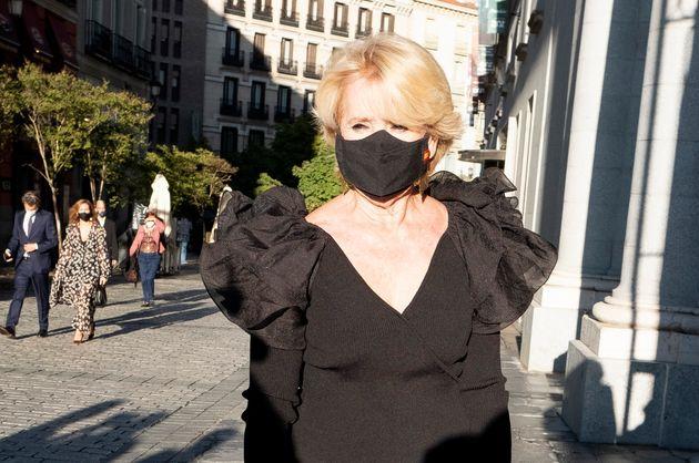 La expresidenta madrileña Esperanza Aguirre el pasado 18 de septiembre en Madrid, en el Teatro
