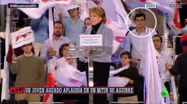 Esperanza Aguirre en un mitin en
