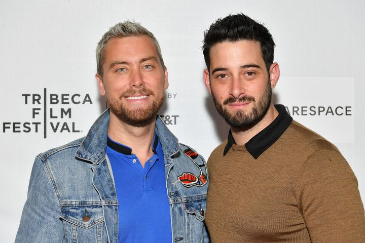 Lance Bass (left) and Michael Turchin married in 2014.