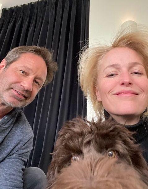 Les acteurs David Buchovny et Gillian Anderson réunis pour une photo postées sur les réseaux...