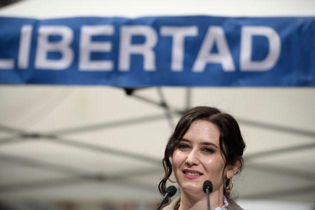 La presidenta de la Comunidad de Madrid y candidata del PP a la reelección, Isabel Díaz...