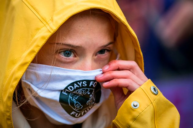 Swedish climate activist Greta Thunberg is pictured during a