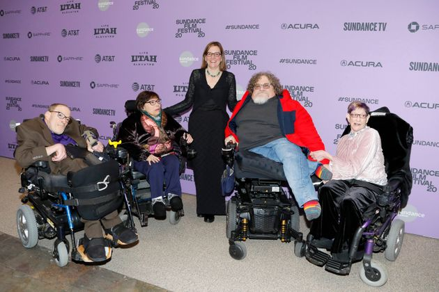 Neil Jacobson, Judith Heumann, Director and Producers Nicole Newnham, Jim LeBrecht and Denise Jacobson...