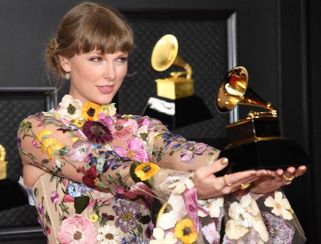 Taylor Swift, ici lors de la 63e cérémonie annuelle des Grammy Awards au Los Angeles Convention...