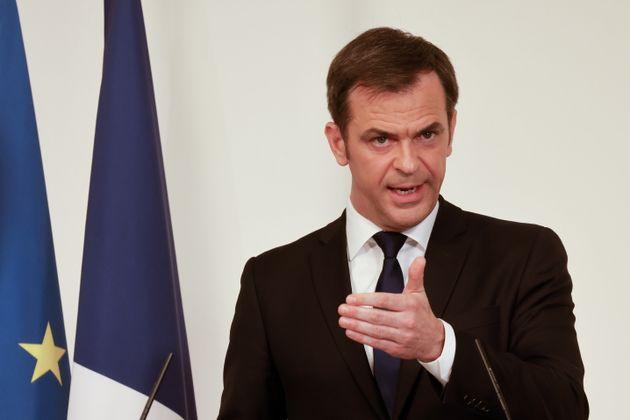 Olivier Véran en conférence de presse le 25 mars 2021 à