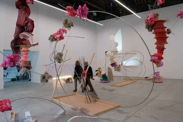 VENICE, ITALY - MAY 22, 2019: Art installations in a gallery during the ongoing Venice Art Biennale on...