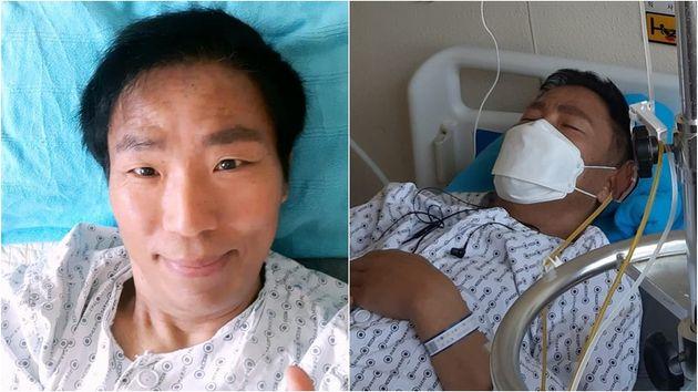 """""""포기하면 다음 기회는 없다"""" : 폐암 말기 투병 중인 김철민이 8차 항암 치료 중 굳은 의지를 전했다"""