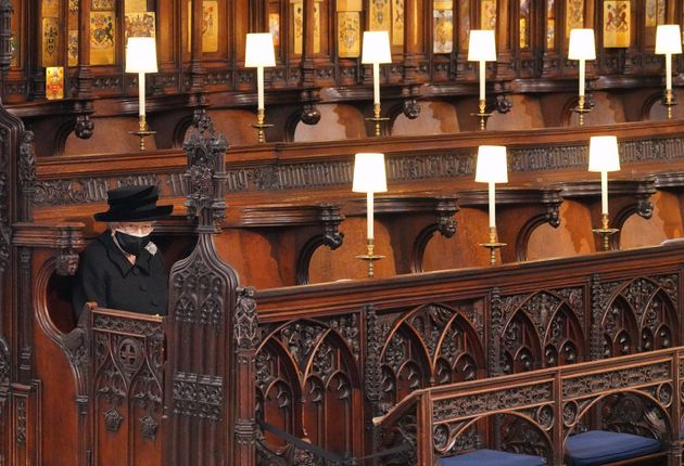 17/04/2021 Castello di Windsor, Cappella di San Giorgio, i funerali del Principe Filippo, nella foto...