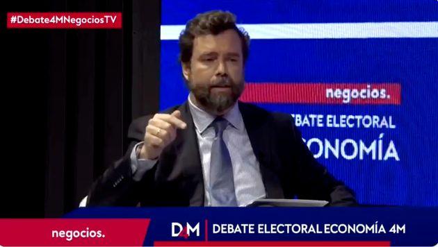 Iván Espinosa de los Monteros, de Vox, en un debate en Negocios