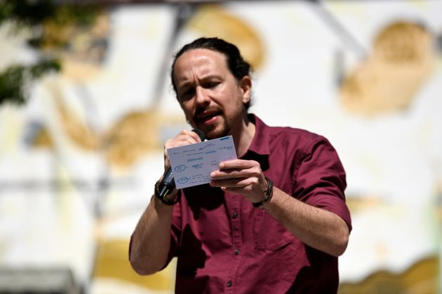 Pablo Iglesias, en el arranque de campaña de Unidas Podemos a la presidencia de la Comunidad de...