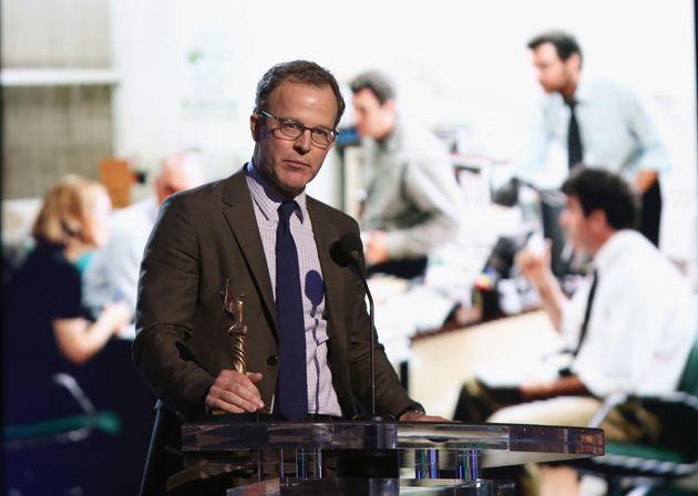 インディペンデント・スピリット賞で監督賞を受賞したトム・マッカーシー監督(2016年2月27日撮影=米カリフォルニア)