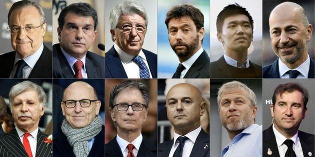 Los 12 presidentes de los clubs integrantes del nuevo proyecto de