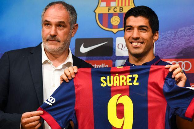 Zubizarreta, en la presentación de Luis Suárez con el