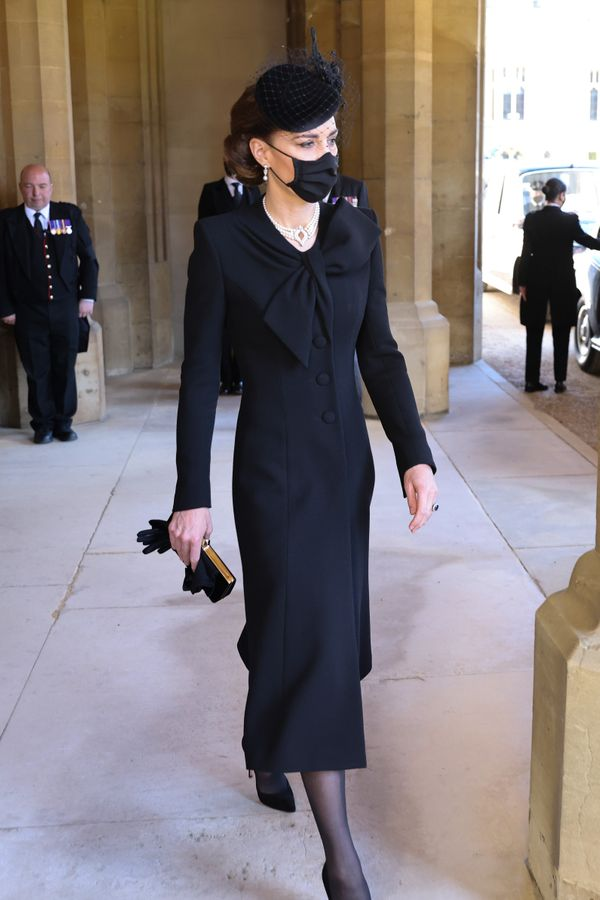 Kate Middleton during the funeral of Prince Philip.
