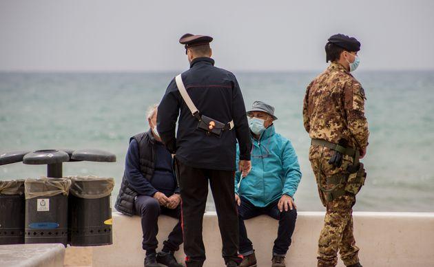 03/04/2021 Agrigento, controlli delle forze dell'ordine nel primo giorno di zona