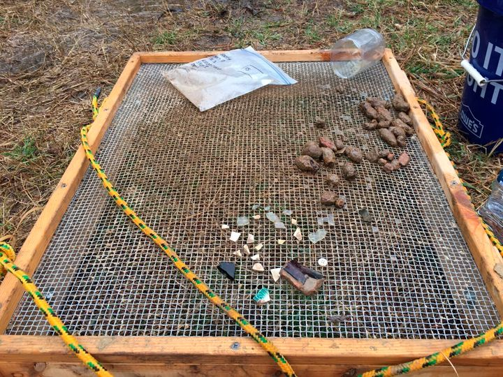 Items found at an archaeological site near Church Creek, Maryland, are displayed on March 25. State officials say the site is
