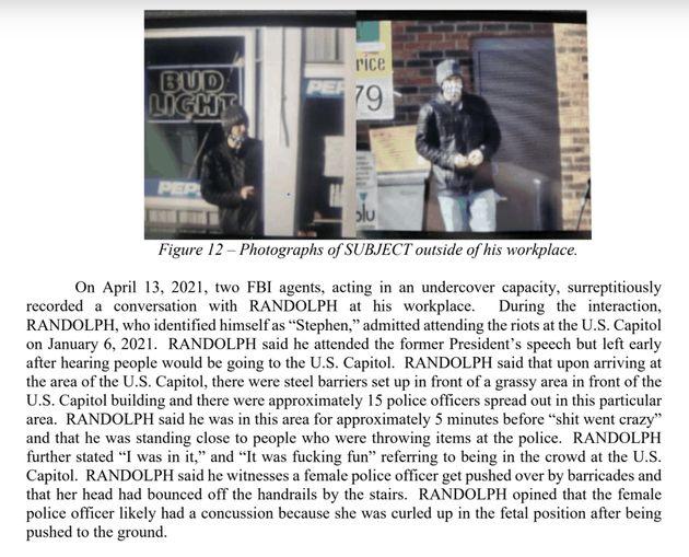 FBI affidavit against