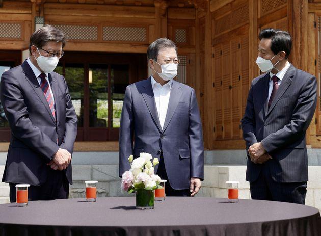 박형준 부산시장, 문재인 대통령, 오세훈