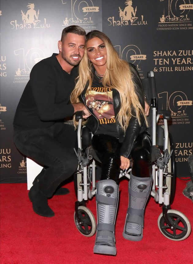 Carl Woods and Katie Price pictured at an event in September