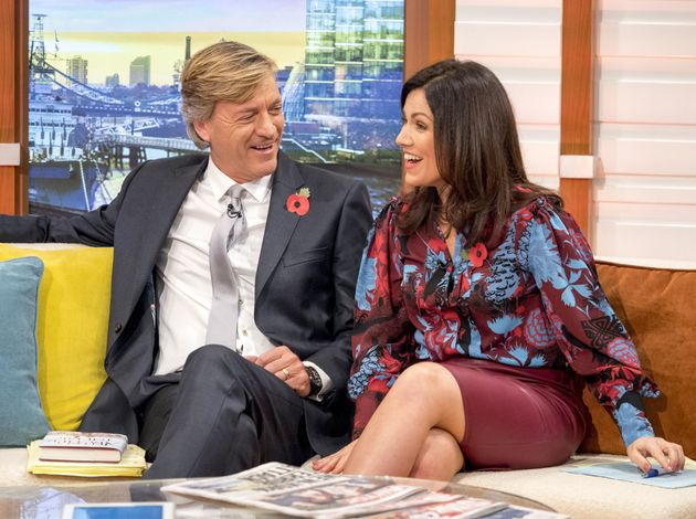 Richard Madeley and Susanna Reid on the set of Good Morning