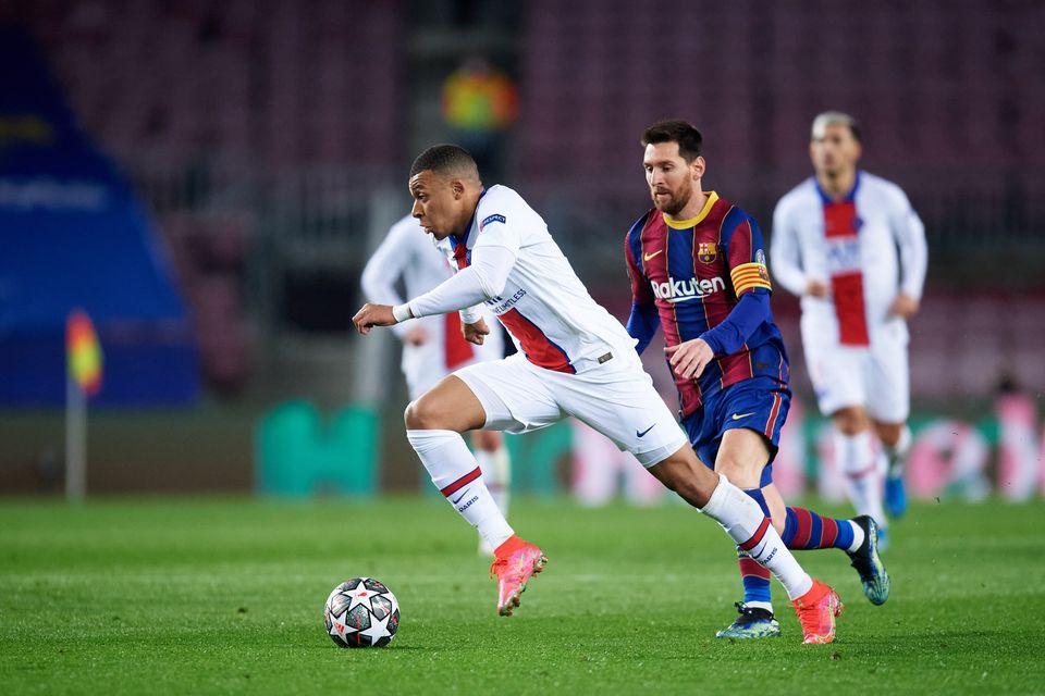 Kylian Mbappé et Lionel Messi -ici en février dernier- devraient pouvoir continuer à...