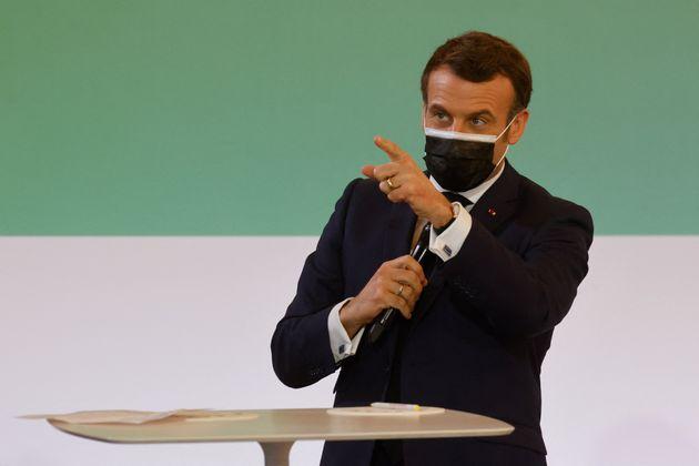 Emmanuel Macron, lors du